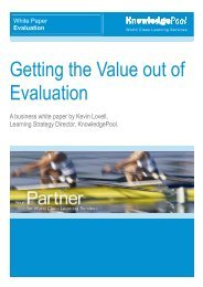 Getting the Value out of Evaluation - SALT