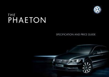 SpecIfIcATION ANd prIce GUIde - Peter Cooper Volkswagen