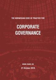 The Norwegian Code of Practice for Corporate Governance - NUES