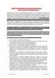 TERMO DE CONSENTIMENTO LIVRE E ... - Fcm - Unicamp