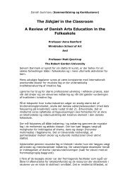 The Ildsjæl in the Classroom A Review of Danish Arts Education in ...