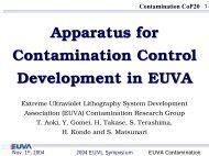 Apparatus for Contamination Control Development in ... - Sematech