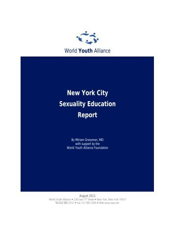 New York City Sexuality Education Report - World Youth Alliance