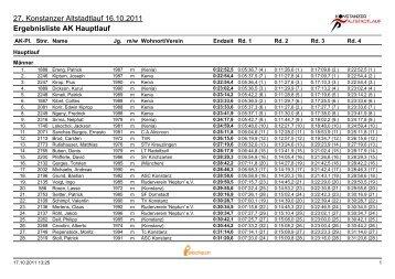 Ergebnisliste AK Hauptlauf - Konstanzer Altstadtlauf