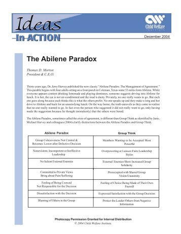 The Abilene Paradox and Groupthink Compared