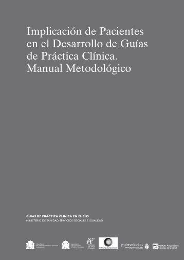 Manual de Implicación de Pacientes en desarrollo de ... - GuíaSalud