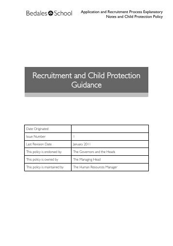 GUIDANCE ON RECRUITMENT AND SELECTION - Bedales Schools