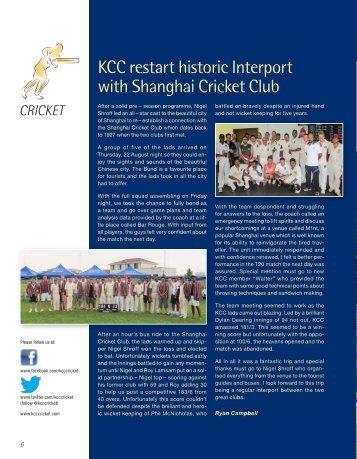Cricket - The Kowloon Cricket Club