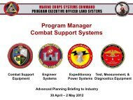 Program Manager Combat Support Systems - Defense Innovation ...