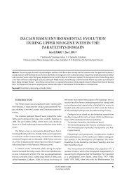 dacian basin environmental evolution during upper ... - GeoEcoMar