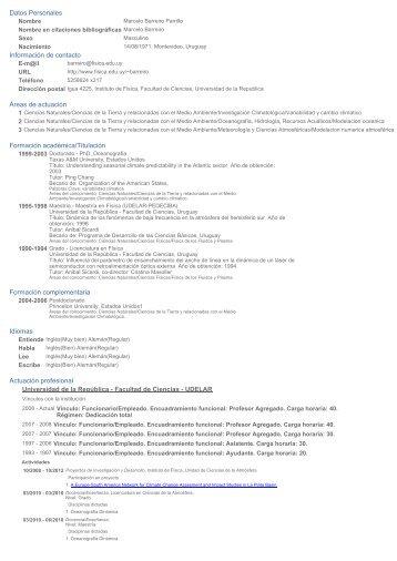 Datos Personales - Unidad de Ciencias de la Atmósfera - Instituto ...