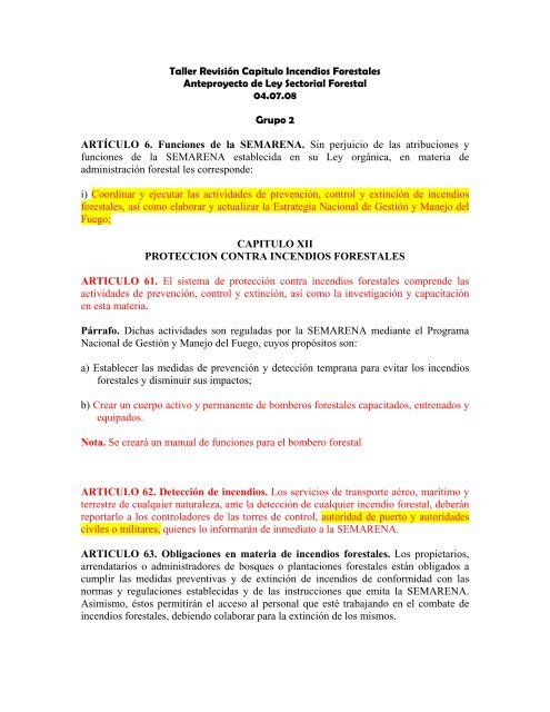 TALLER REVISION CAPITULO INCENDIOS ... - CEDAF