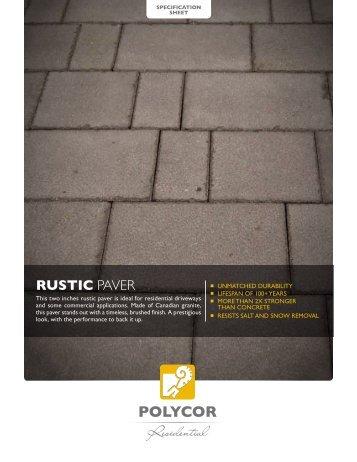 ruStIc paver - Polycor