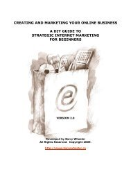 creating and marketing your online business a diy ... - Barry Wheeler