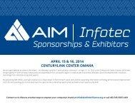 Sponsorships & Exhibitors - AIM Institute