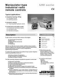 Manipulator-type industrial radio remote controls UM serie