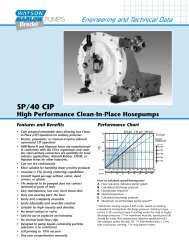 SP/40 CIP Clean-In-Place Hosepumps - Watson-Marlow GmbH