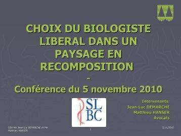 Les biologistes - SLBC