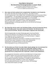 Hans-Martin Heinemann Die Zukunft der Kirchengemeinden in ...