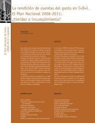 La rendición de cuentas del gasto en I+D+i.El Plan ... - Madri+d