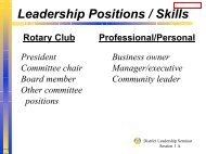 Volunteer v. Professional Overheads - Rotary Leadership Institute