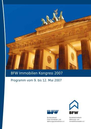 BFW Immobilien Kongress 2007 - PPP-INSTITUT eV