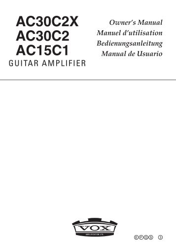 Tube Acoustic Guitar Amplifier AGA4-AT Owner's Manual