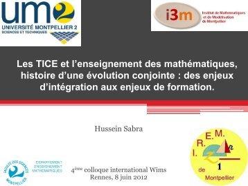Diaporama - IREM de Rennes