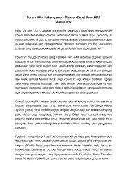 Forum Iklim Kebangsaan - Monsun Barat Daya 2012 - Jabatan ...