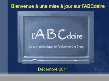 Bienvenue à un atelier sur l'ABCdaire - CHU Sainte-Justine - SAAC