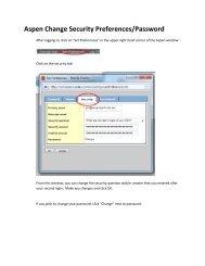 Aspen Change Security Preferences/Password - Coventry Public ...