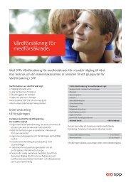 Vårdförsäkring för medförsäkrade. - SPP