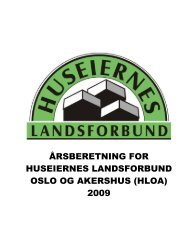 Årsberetning Huseiernes Landsforbund i Oslo og Akershus 2009