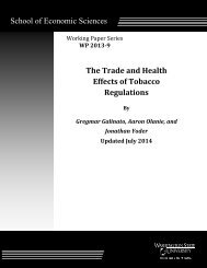 The Trade and Health Effects of Tobacco Regulations - Washington ...