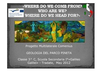 "GEOLOGIA DEL PARCO PINETA - I.C. ""G. Galilei"" Tradate"