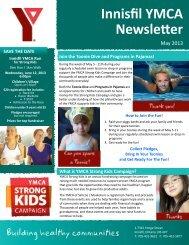 Innisfil YMCA Newsletter - YMCA of Simcoe/Muskoka