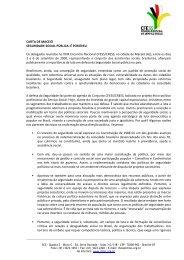 CARTA DE MACEIÓ SEGURIDADE SOCIAL PÚBLICA: É ... - CFESS
