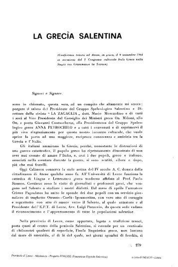LA GRECiA SALENTINA - culturaservizi.it