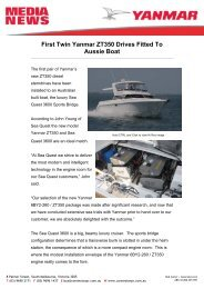 First Twin Yanmar ZT350 Drives Fitted To Aussie Boat