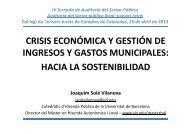 ingresos y gastos municipales - Col·legi de Censors Jurats de ...