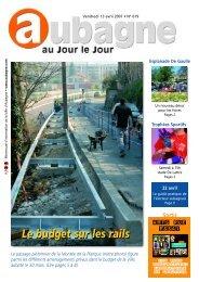 Le budget sur les rails - Site officiel de la ville d'Aubagne en Provence