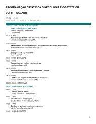 programação científica ginecologia e obstetrícia dia 14 ... - ITpack