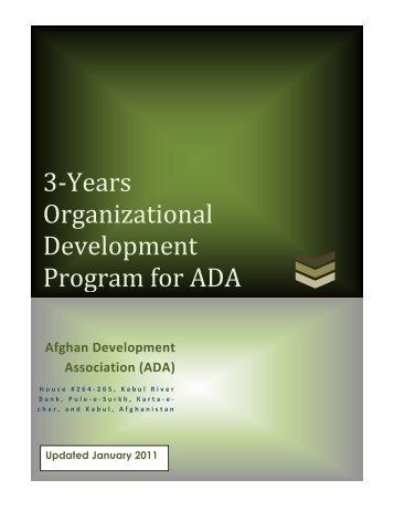 3-Years Organizational Development Program for ADA - Afghan ...