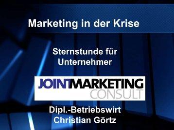 Christian Görtz – Markting in der Krise - Sternstunde für Unternehmer