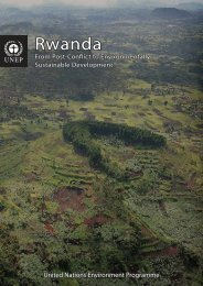 Rwanda - Disasters and Conflicts - UNEP