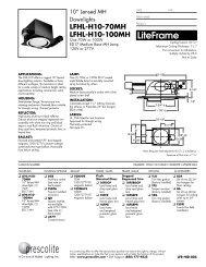 LFHL-H10-70MH LFHL-H10-100MH - Prescolite