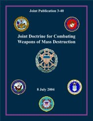 JP 3-40, Joint Doctrine for Combating Weapons of Mass Destruction
