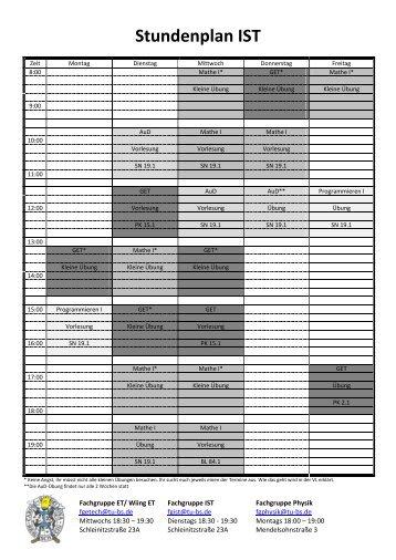 Stundenplan IST