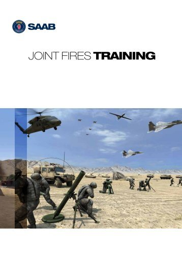 Joint Fires Training flyer - Saab
