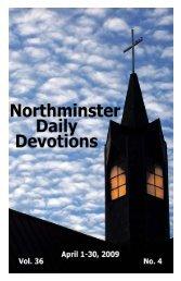 April 2009 Devotional - Northminster Presbyterian Church